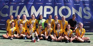 team picture Beach FC LB G05 I. Ayala champions so cal summer showcase