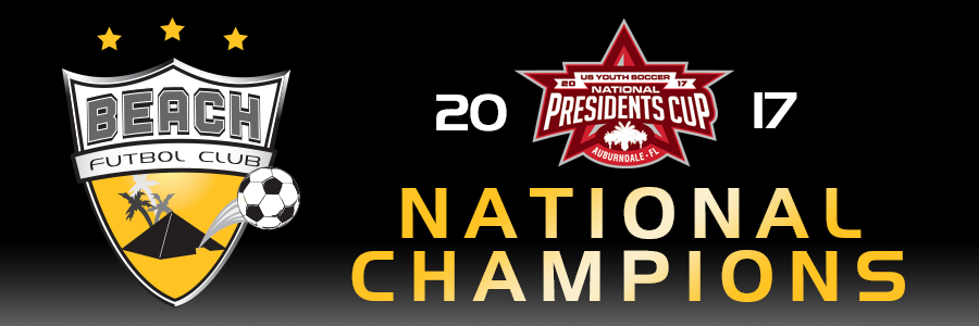 Beach FC banner national champions Presidents Cup club soccer