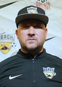 Picture of Andy Dodds Beach Futbol Club soccer coach black hat