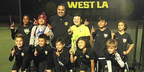 team photo champions beach fc sb b07 dold west la five a side
