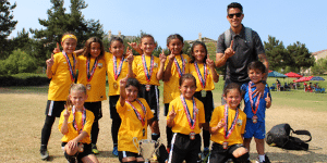 Team picture of Beach FC LB G10 Ayala Fullerton Rangers Open Champions