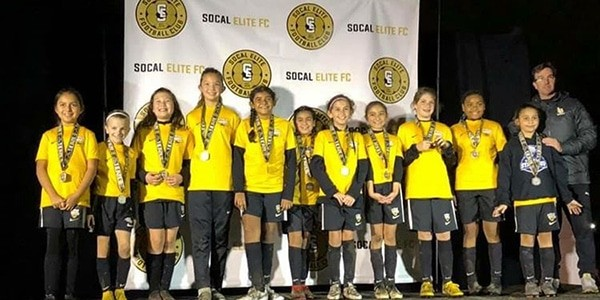 team photo Beach FC LB G08 Carrasco finalists at IE Elite Cup January 2019