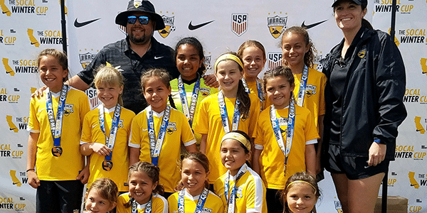 Picture of Beach FC LB G08 Marroquin champions socal winter cup girls club soccer