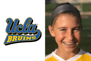 Picture of Beach FC US Soccer Development Academy player and UCLA logo