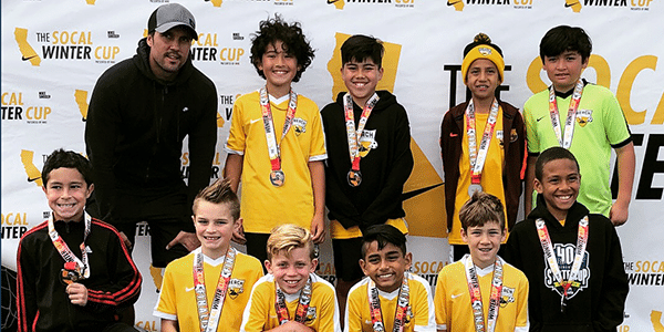 Beach FC SB B08 Osborne finalists boys club soccer SoCal Winter Cup