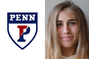 Picture of Jacqueline Bruder Beach FC and Penn logo