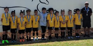 team photo of Beach FC SB B08 Osborne Pats Cup Finalist