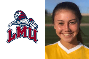 head shot with yellow jersey Beach FC club soccer southern california Kailey Park LMU commit