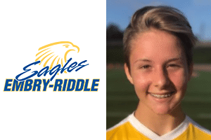 logo and head shot lucy hayward beach fc club soccer player and embry riddle verbal commit