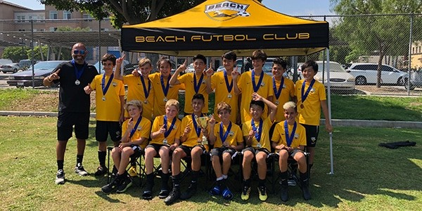 team photo CHAMPIONS SB B05 B Lopez FCLB Invitational