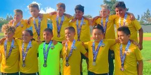 team photo beach fc club soccer champions B08 pena players challenge cup