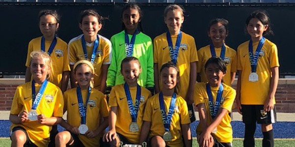 team photo of champions - sb g08 cahalan - la galaxy cup
