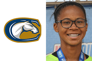 UC davis logo and headshot of zora standifer beach fc player uc davis womens soccer commit