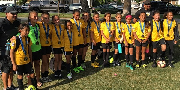 team photo Beach FC finalists LB G07 - Irvine World Cup Showcase