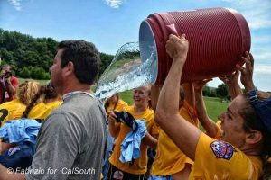Sami Reinhard dumps water on Mauricio Ingrassia