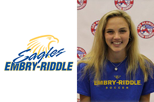 head shot of Beach fc club soccer player Paige Thompson, embry-riddle soccer commit