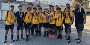 team photo of beach fc sb b05 brian lopez champions tfa copa americana 2019